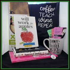 """People I Want to Punch in the Throat: 12 Days of Christmas Giveaways! DAY FIVE! """"Teacher's Pet Featuring Will Work for Apples. Christmas Giveaways, 12 Days Of Christmas, Teachers Pet, Teacher Favorite Things, Drinking Tea, Elf On The Shelf, Happy Holidays, Coloring Books, First Love"""