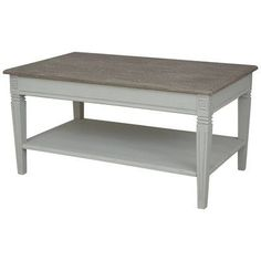 August Grove Madison Indoor 2 Tier Coffee Table Finish: Antique Gray