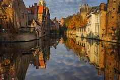 Brugge Photograph - Reflections Of Bruges by Chris Fletcher