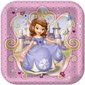 Princess Sofia the First 9 Inch Large Square Dinner Plates
