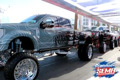 Spotted awesome Jeeps and trucks on the last day of the SEMA Show Check out some of the photos we got here and rate them! Lifted Trucks, Pickup Trucks, Discount Auto Parts, Auto Parts Store, 4x4 Off Road, Trucks And Girls, Rv Trailers, Boy Toys, Custom Trucks