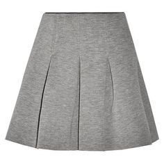 T by Alexander Wang Pleated neoprene mini skirt ❤ liked on Polyvore featuring skirts, mini skirts, short mini skirts, short pleated skirt, pleated mini skirt, grey pleated skirt and short skirts