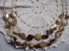 Seashell Necklace, Gold Shell Necklace, Gold Seashell Necklace, Beach Necklace, Shell Jewelry, Shell Pendant, Sea Shell, Gold Necklace NY