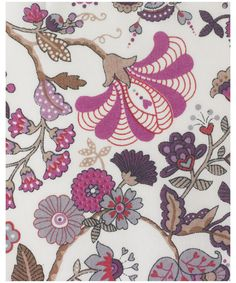 Liberty print Mabelle C tana lawn from the Liberty Art Fabrics collection.    Mabelle is a design taking a fresh look at beautiful Indian chintz designs of the 17th and 18th centuries. It was created by Liberty's in-house studio specially for the Classic Tana range in 2007.