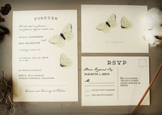Butterfly Wedding Invitation Collection Woodland by KayleighDuMond, $50.00