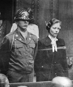 Dr Herta Oberheuser being sentenced at the Nuremberg doctors' trial, 20 August 1947. Photo & Caption featured in If This Is A Woman: Inside Ravensbrück: Hitler's Concentration Camp for Women by Sarah Helm.