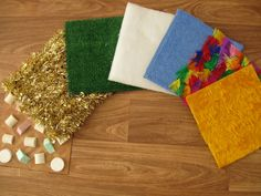 The easiest and cheapest for DIY sensory:  DIY texture mats for children to explore with their feet! how fun :) repinned from @smartappsforspecialneeds.com by @abbey Phillips Zahtz