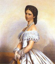 Kaiserin Elisabeth von Österreich mit Perlenschmuck