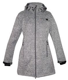 Strickfleece Mantel Damen DEPROC WHITEFORD Lady Farbe: anthrazit