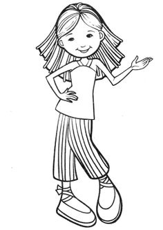 Dancing Groovy Girls Coloring Pages Girly Pinterest Dancing