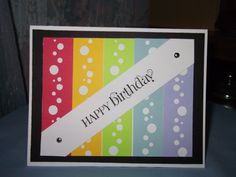 happy Birthday bubble card, used Creative Memories bubble border punch to cut out the bubbles
