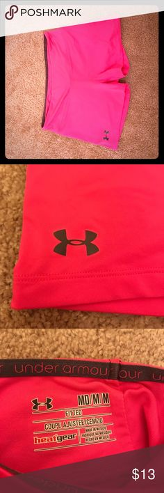Under Armour spandex shorts Women's hot pink Under Armour spandex shorts Under Armour Shorts
