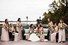 Bridal Party on the Verandah | Oyster Bay Yacht Club | Amelia Island, FL