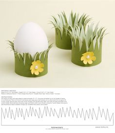 DIY Easer egg cups - with printable template Hobbies And Crafts, Diy And Crafts, Crafts For Kids, Easter Holidays, Holidays With Kids, Easter Table, Easter Eggs, Easter Templates, Ramadan Decorations