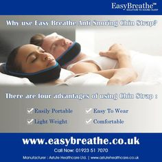 "Why use Easy Breathe Anti Snoring Chin Strap? ""#Easybreathe #nasal #strips"""