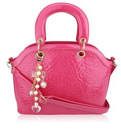 Pink Flower Fashion Tote Bag With Charm, £23.99