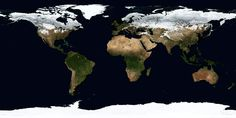 This NASA moving image, recorded by satellite over a full year as part of their Blue Marble Project, shows the ebb and flow of the seasons and vegetation. Both are absolutely crucial factors in every facet of human existence — so crucial we barely even think about them. It's also a reminder that the Earth is, for all its political and social and religious divisions, still unified by the natural phenomena that make everything else possible.
