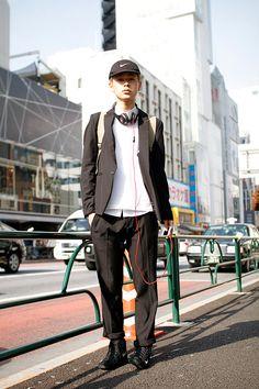 ストリートスナップ | 成田凌 | dude 販売員, 美容学生 | 原宿 (東京) #headphones #beatsbydre