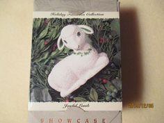 ceramic CHRISTMAS TREE Ornament Joyful LAMB Sheep Hallmark KEEPSAKE JOY Signed