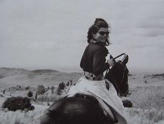 Jackie was an accomplished equestrian....loved her fox hunting and loved her horses. Read her book! It's also a great coffee table book!