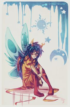 she's really a kid inside....somewhere Vriska Serket #Homestuck