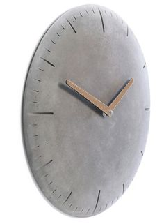 Concrete clock round via of/Berlin