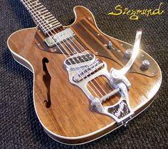 Siegmund Outcaster Guitar - custom hollowbody electric guitar handmade