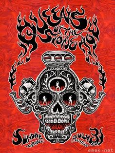 Queens of the Stone Age~ classic heavy metal psychedelic  rock music poster  ☮~ღ~*~*✿⊱  レ o √ 乇 !! ~
