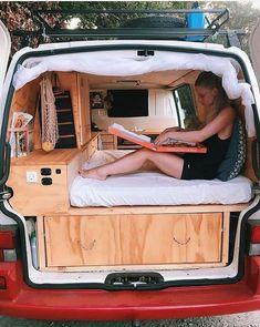 The best 49 inspirations of Van Life Interior Ideas - Camper - Camping Vw Camper, Mini Camper, Camper Life, Small Camper Vans, Minivan Camper Conversion, Sprinter Van Conversion, Conversion Van, Kangoo Camper, Minivan Camping