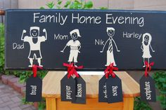 Let Your Heart Soar Designs: Family Home Evening Boards & Chore Charts!