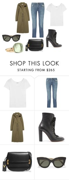 """""""Sin título #11199"""" by ceciliaamuedo ❤ liked on Polyvore featuring Yves Saint Laurent, 3x1, MM6 Maison Margiela, Chloé, Valentino, Victoria Beckham and Pomellato"""