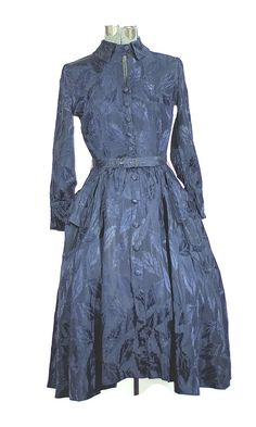 1950 Jonathan Logan Midnight Blue Cocktail Dress