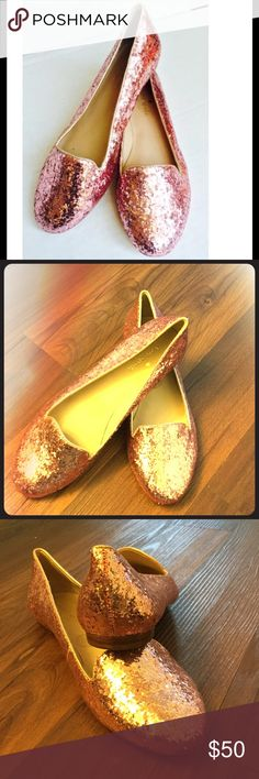 kate spade pink glitter flats Sparkle pink flats. Never worn. kate spade Shoes Flats & Loafers
