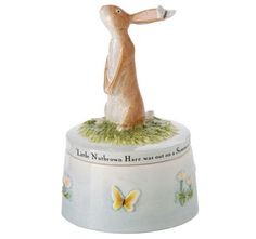 John Beswick 'Guess How Much I Love You' Trinket Box Hare/Butterfly (Blue)