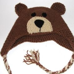 Crochet Pattern for Teddy Bear Hat
