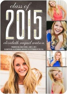 Modern Distinction - Graduation Announcements in Cobblestone or Khaki | Sarah Hawkins Designs