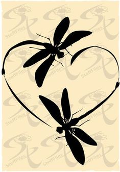 0295_DRAGONFLY Vector Dragonfly Love_ by SteffFiles on Etsy