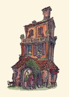 ArtStation - Little homes - Series, Fergal O' Connor House Viewing, Little Houses, Layout, Homes, Architecture, City, Business, Building, Artwork