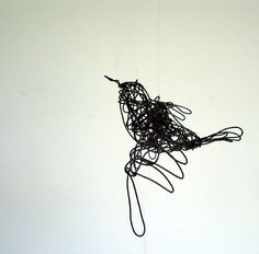 Unique Wire Bird Sculpture  FLYING SKYWARD  Ships par wireanimals, $42.00