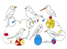 Dicky Birds by Jennifer Camilleri amazing drawings and illustrations. Find out more and go to jennifercamilleri.com,  you will like it