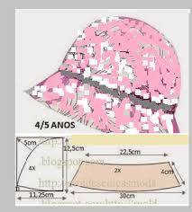 Resultado de imagem para moldes de chapeu de tecido infantil