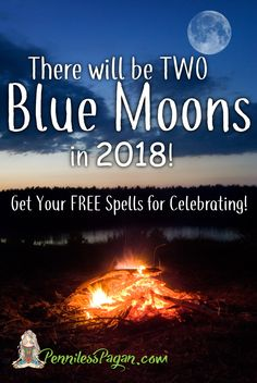 Blue Moon Spells by PennilessPagan.com #BlueMoon #FullMoon #Moon #Full #Spells #MoonSpells #Pagan #Wiccan #Witch #Witchcraft #Magick #Magic