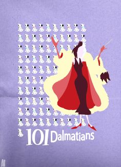 Cruella DeVil - 101 Dalmatians Movie Poster