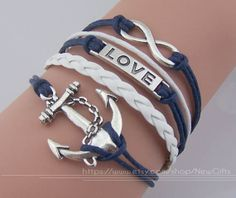 Infinity Bracelet Love Bracelet Anchor Bracelet Charm by NewGifts, $4.99