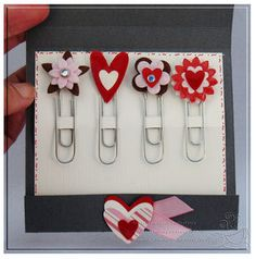 embellish Paper Clips and put in a Matchbook #bookmarks good idea for a gift  visit me at My Personal blog: http://stampingwithbibiana.blogspot.com/