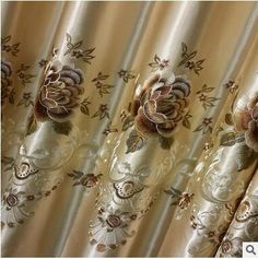 2017 New Europe Embroidered Window Curtain For living Room Bedroom Blackout Curtain Window Treatment Drapes Home Decor