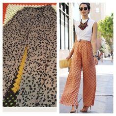 SALE leopard print wide leg pants Very flowy, worn once Forever 21 Pants Wide Leg