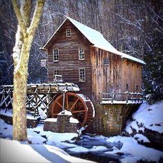 Alte Mühle im Winter