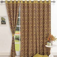 Olive Baroque Curtains- Bedazzle the rooms of your homes. Aesthetic Sense, Printed Curtains, Organizing Your Home, Luxury Living, Windows And Doors, Baroque, Living Spaces, Elegant, Purple