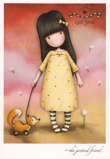 Items similar to NEW - The Pretend Friend - 8 x 10 Giclee Fine Art Print - Gorjuss Art on Etsy Cute Images, Pretty Pictures, Santoro London, Illustrations, Copics, Cute Dolls, Cute Illustration, Clipart, Cute Art